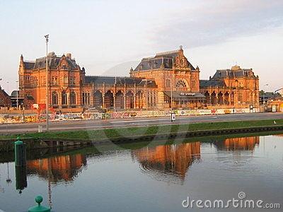 Groningen central station by Sann Douglass, via Dreamstime. Love this!