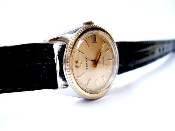 Elegante Vintage Reloj TIMEX Para Dama 1980c Caja por shopvintage1