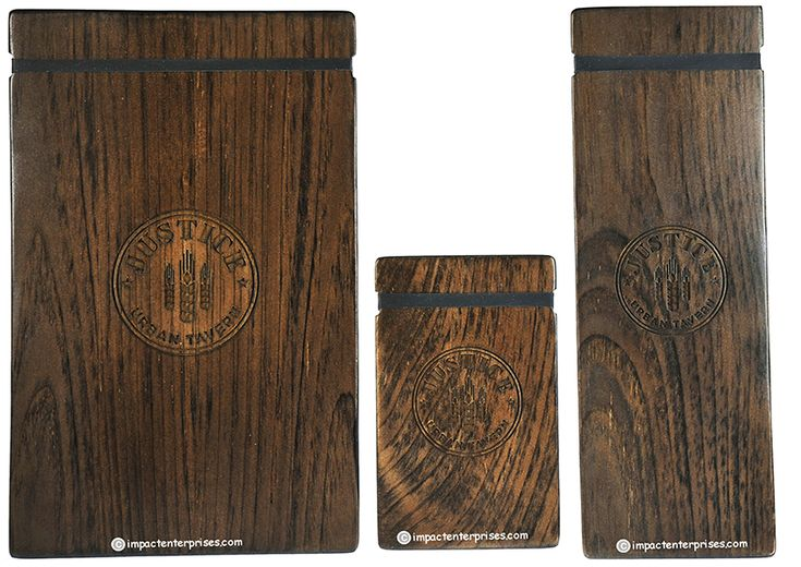Justice Urban Tavern Collection- Lightweight and Stylish Solid Wood Rubber Band Boards with laser engraved Artwork are a perfect presentation for any establishment with rotating offerings.