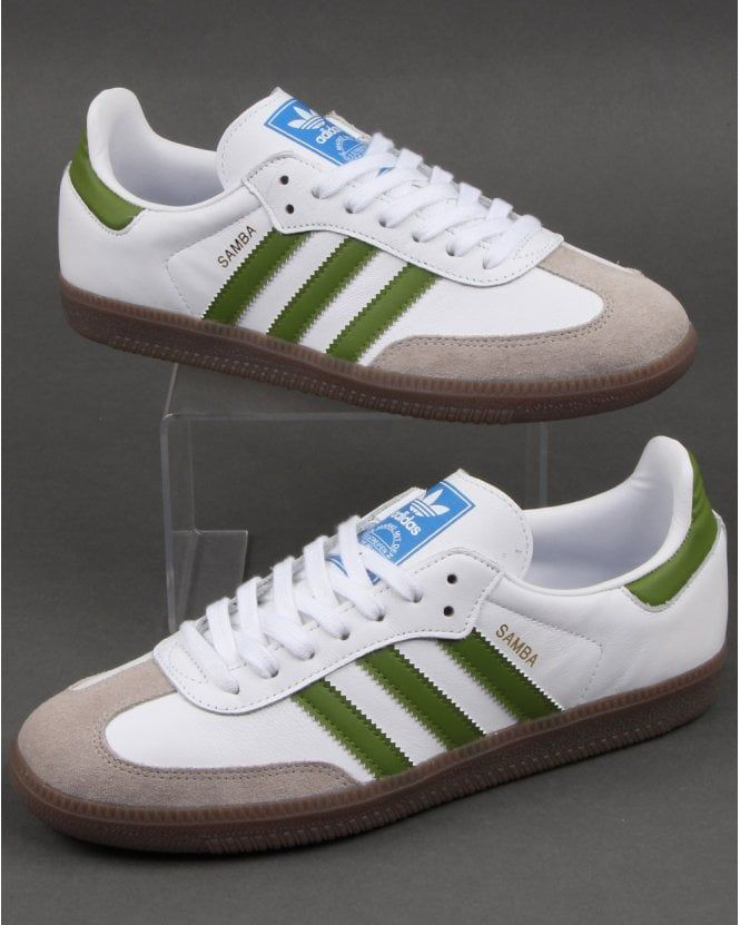 buy \u003e green adidas samba trainers, Up