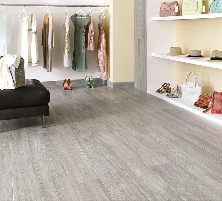 Coppice Grey Porcelain Wood Effect Tiles