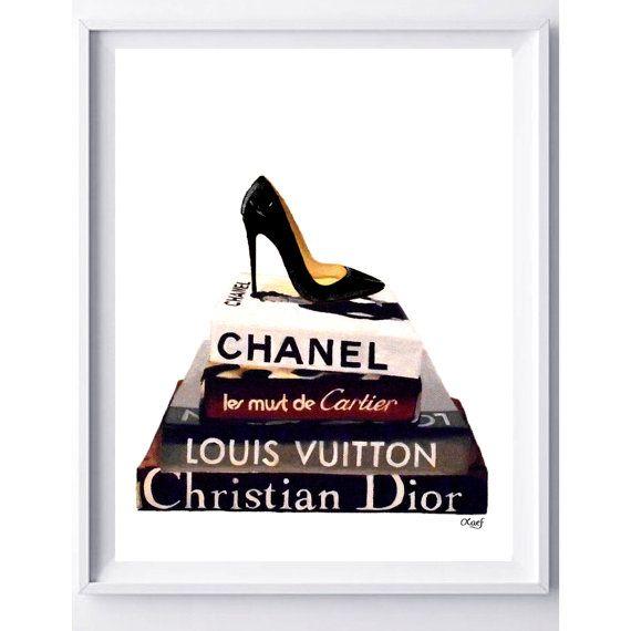 Book Illustration Designer PRINT  Chanel Louis by LauraFungArt