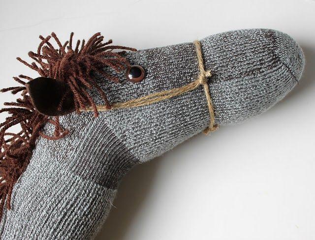 Steckenpferd aus alten Socken