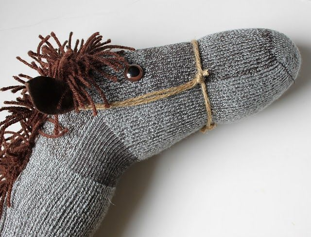 A hobby horse made with a sock...now I really want to make one...