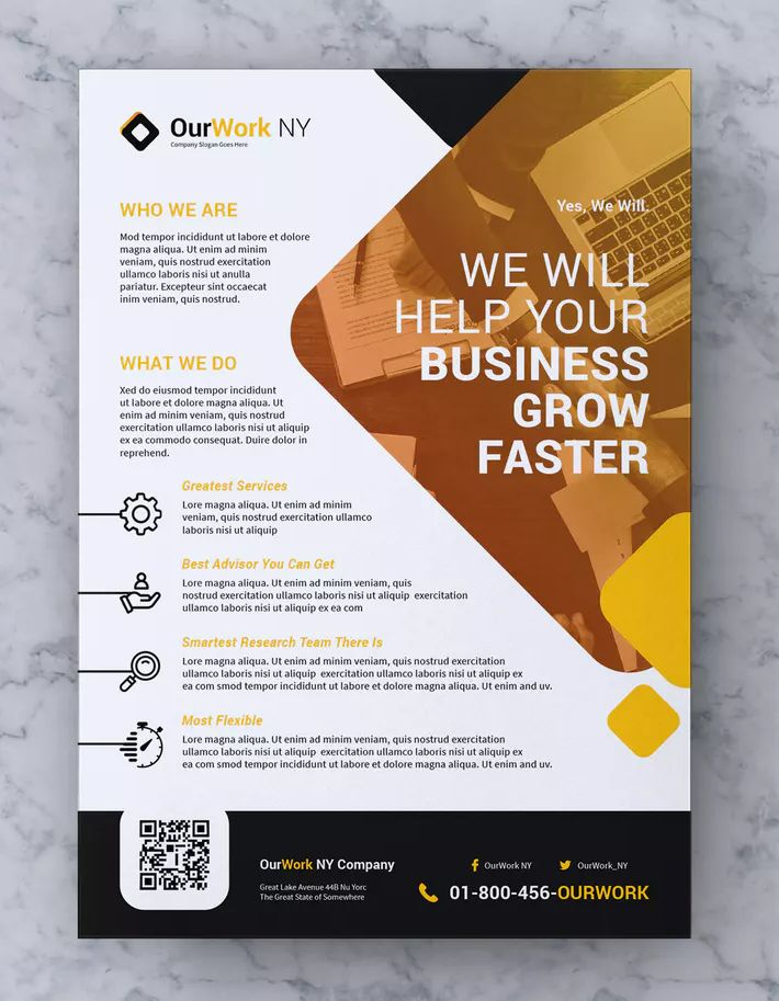 Creative Corporate Flyer Template AI, EPS, PSD - A4 format paper