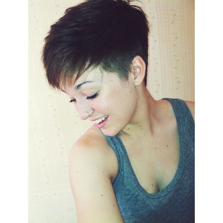 Nose ring pixie cut undercut freckles Hair and Nails Pinterest