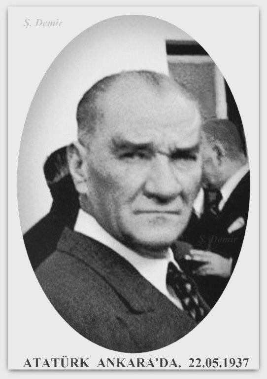 Atatürk Ankara havaalanında. 22.05.1937