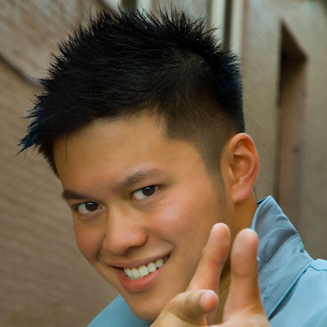 Asian Male Hairstyles: Short Sides, Spiky Top