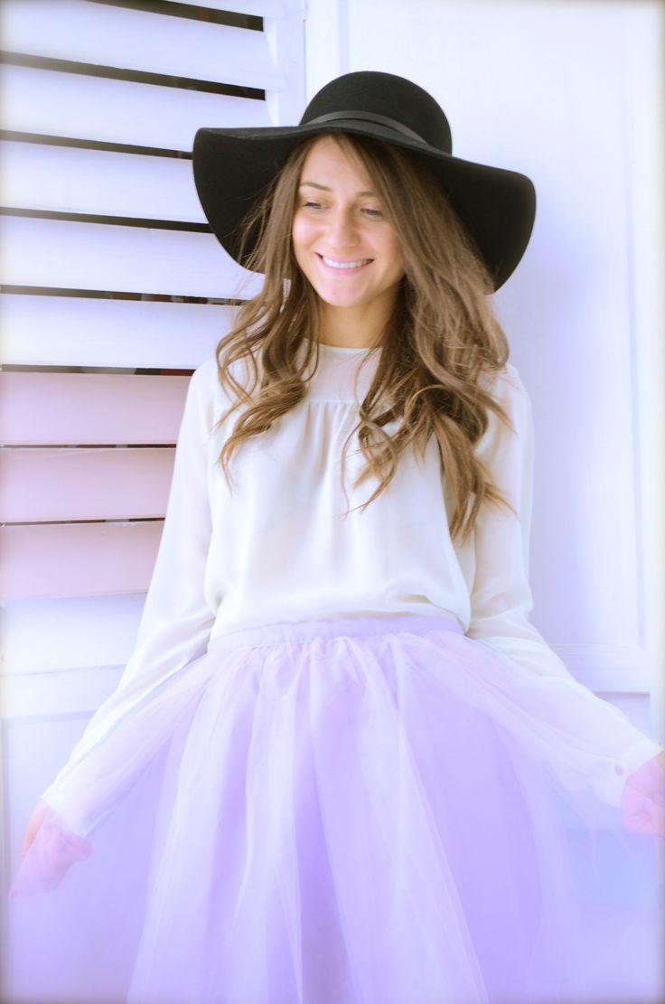 #LeTulle #purpleskirt #smile #hat #goodmood #easiness #2015 #gotowww https://www.facebook.com/LeLovelyTulle