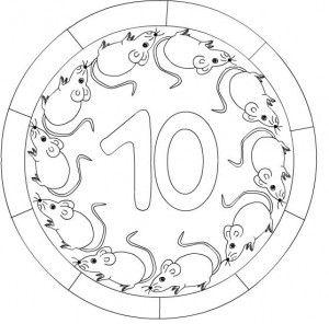 10 numara mandala boyama