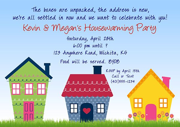 Cute housewarming party invitations $1.00 each http://www.festivityfavors.com/item_765/Housewarming-Party-Invitations.htm