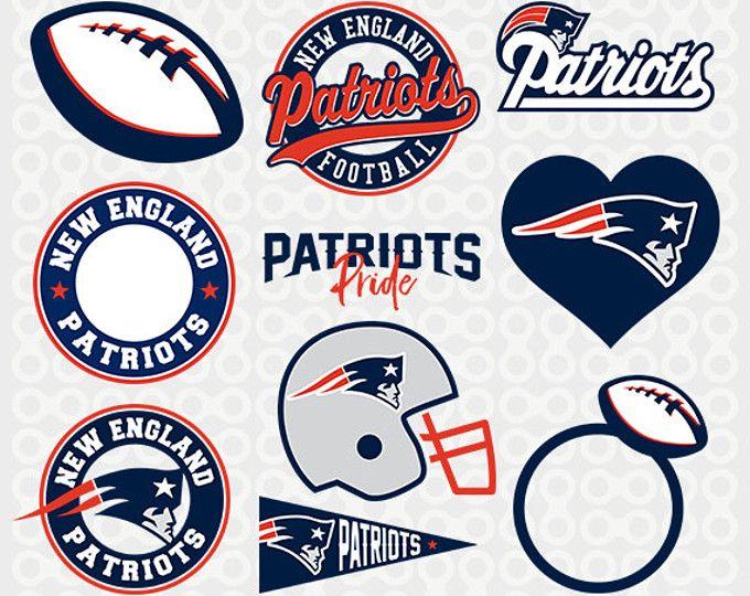 New England Patriots Svg, Patriots Clipart, New England Football, New England Patriots Cricut, Cutting Files, Monogram, SVG-13