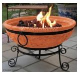 Clay pot fire pit