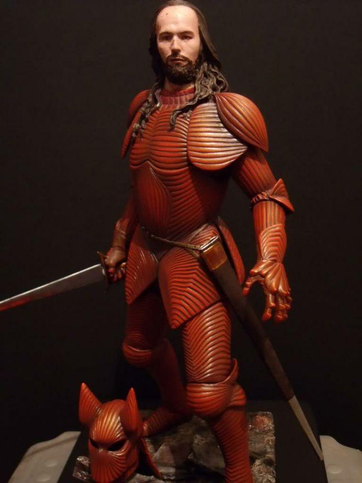 Wax figure of Gary Oldman as Dracula in armor