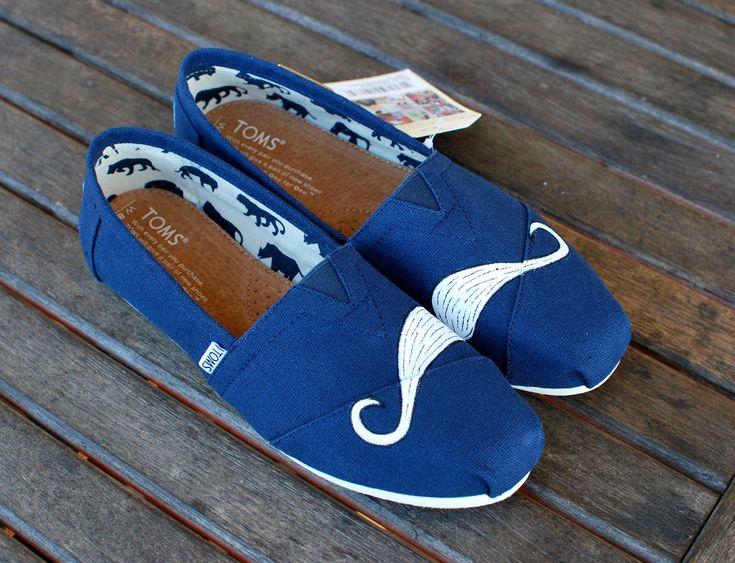 Mustache TOMS Shoes // Etsy