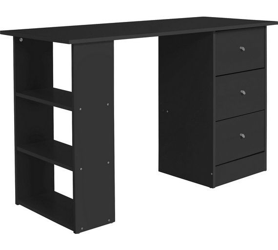 Home New Malibu  Drawer Dressing Table Black