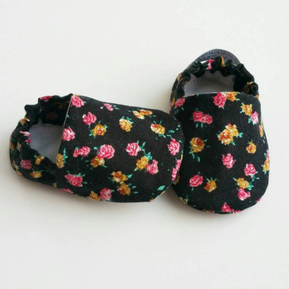 Baby Booties Baby Gifts Baby Slippers Baby Crib Shoes Baby Flower floral Baby Shoes etsy