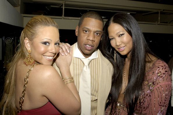 Mariah Carey JayZ and Kimora Lee Simmons during Mariah Carey Celebrates the Release of Her Album 'The Emancipation of Mimi' and its Debut at at...