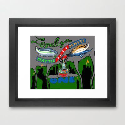 Smokin' Bowl Framed Art Print by TheArtistGrimm - $33.00 #theartistgrimm #grimm #smokinbowl #smokin #seattle #denver #420 #smokeabowl #art #seahawks #broncos #parody #humor #artist #seattleseahawks #denverbroncos #superbowl #cannabiscup #weedbowl #kush #dank #indica #sativa #legalize #drawing #funny #football #smoking #weedleaf #marijuana #print #framed #framedprint