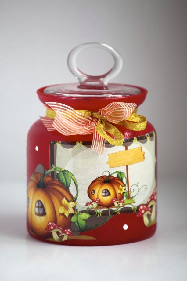 Çöp Adam Kavanoz *Cam üzerine su bazlı özel cam boyaları ile boyanmıştır.*Kapakları vakumludur hava.... 166719