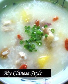 香港式本格中華粥(鶏とサツマイモ編)
