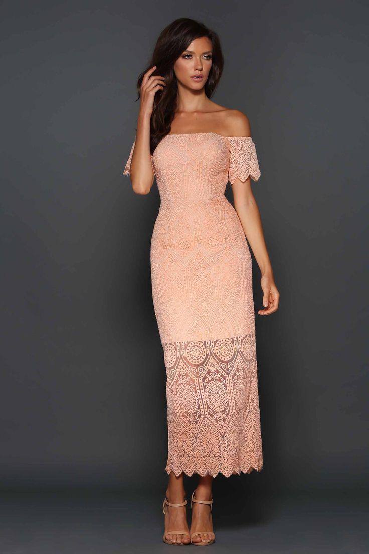 Elle Zeitoune  - Emmanuelle Dress Peach