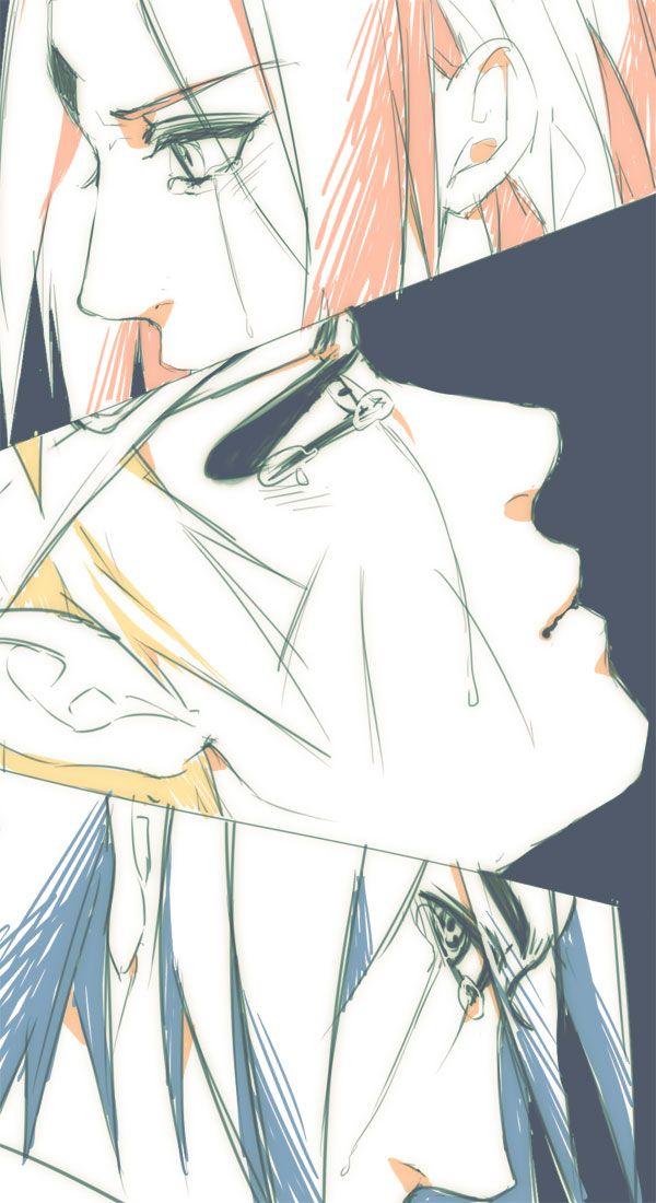 The three members of Team 7 showed grief in very different ways. Sakura, Sasuke, and #naruto