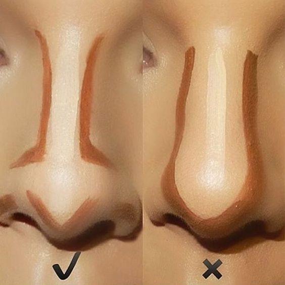 contorno do nariz