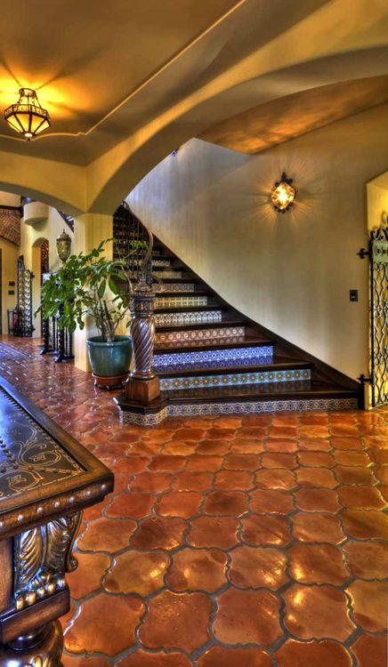 Option for flooring instead of hardwood... Tuscany/Mediterranean entry