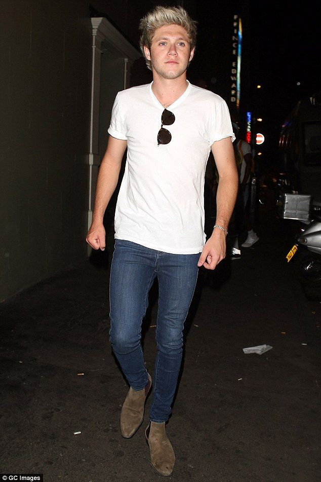 Niall Horan channels Harry Styles' signature look while on a night out at the Soho House