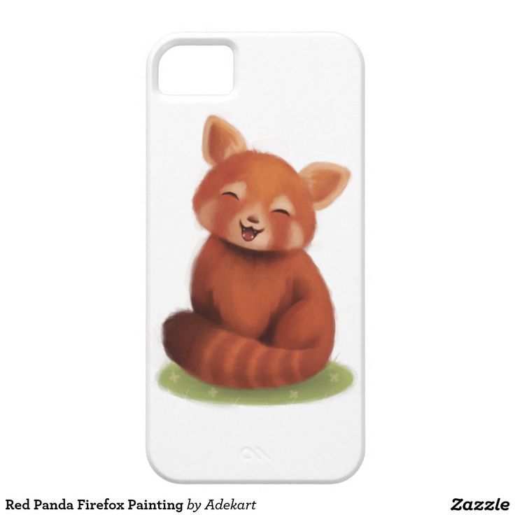 Red Panda Firefox Painting iPhone 5 Cover