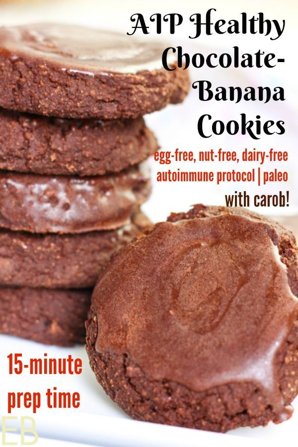 Aip Chocolate Banana Cookies With Glaze Fast Easy Prep No