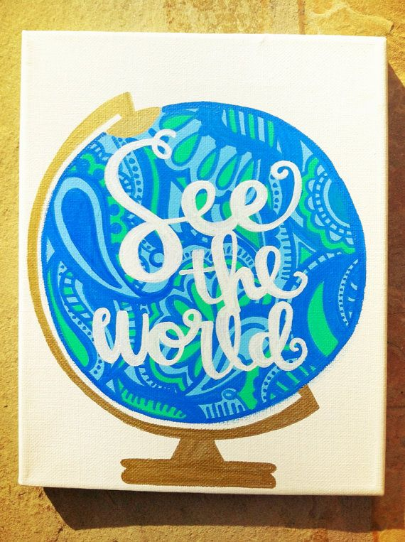 See the World Canvas Abstract Lime Green and by bkraftybybethany