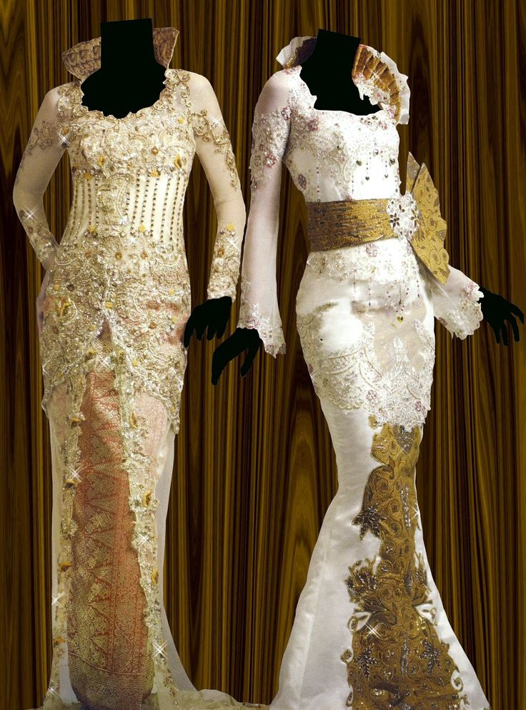 Beautiful gowns...wish I knew who designed them!