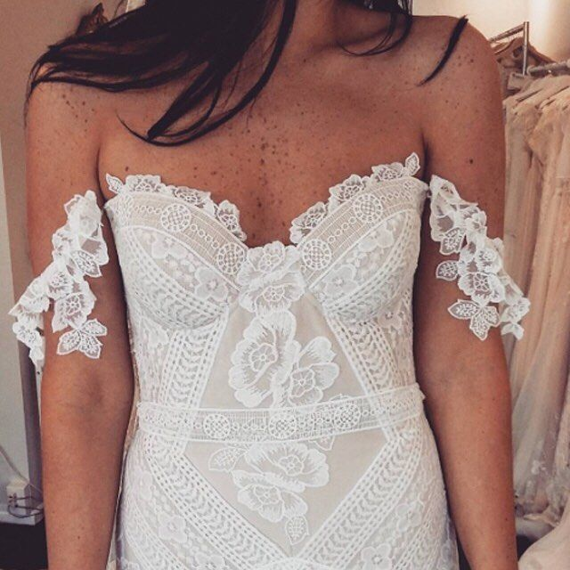 Paper Swan customer in Wellington tries the Fox Gown on, and looks like a…