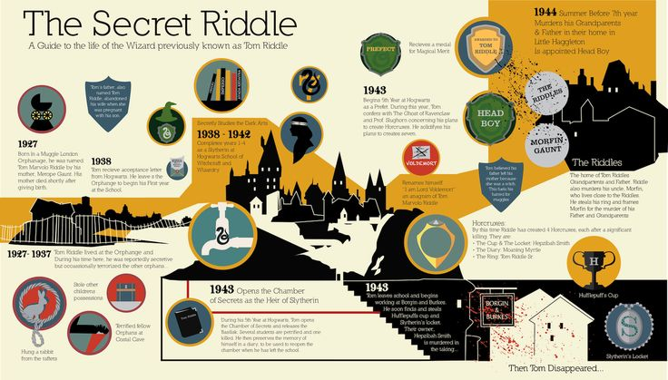 Harry Potter - Tom Riddle infographic