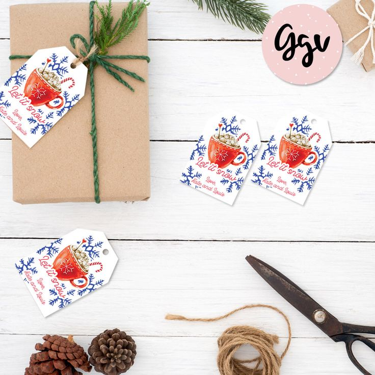 Christmas Gift Tags, printable gift tags, christmas labels, christmas stickers, holiday gift tags, christmas gift, personalized gift tags by GGVgraphicdesign on Etsy https://www.etsy.com/listing/551381340/christmas-gift-tags-printable-gift-tags