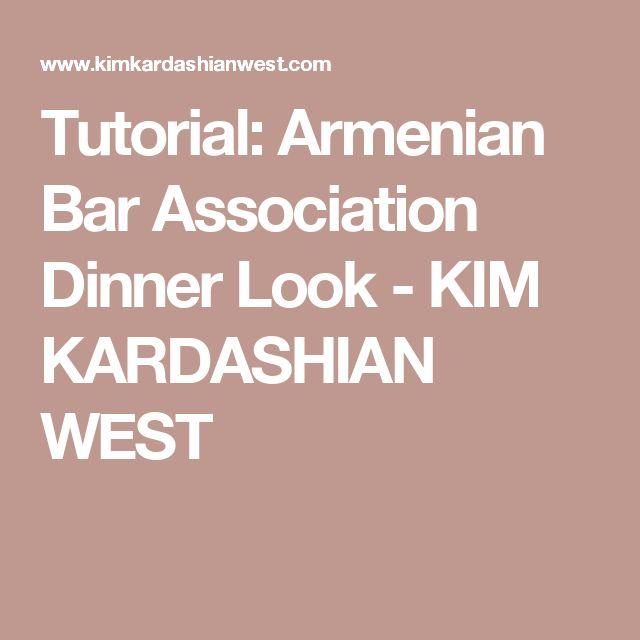 Tutorial: Armenian Bar Association Dinner Look - KIM KARDASHIAN WEST