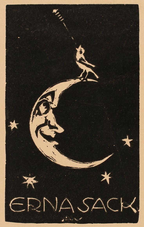 Ex Libris - Erna Sack - by Alice Wanke, Art-exlibris.net