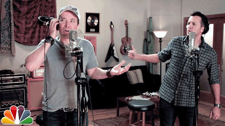 """❤️  Luke Bryan and Jimmy Fallon: """"I Don't Know How to Pronounce Gyro"""" (Official music video) ."""