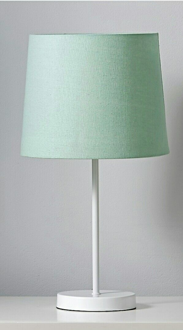 Mint lamp shade with white stand