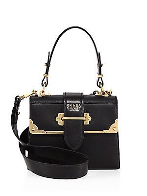 Prada Cahier Leather Handbag