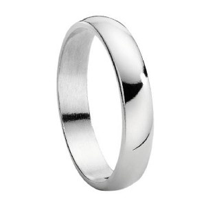 His And Hers Sterling Silver Wedding Band With Polished Finish U2013 5 Mm. Guy  Wedding RingsWedding ...