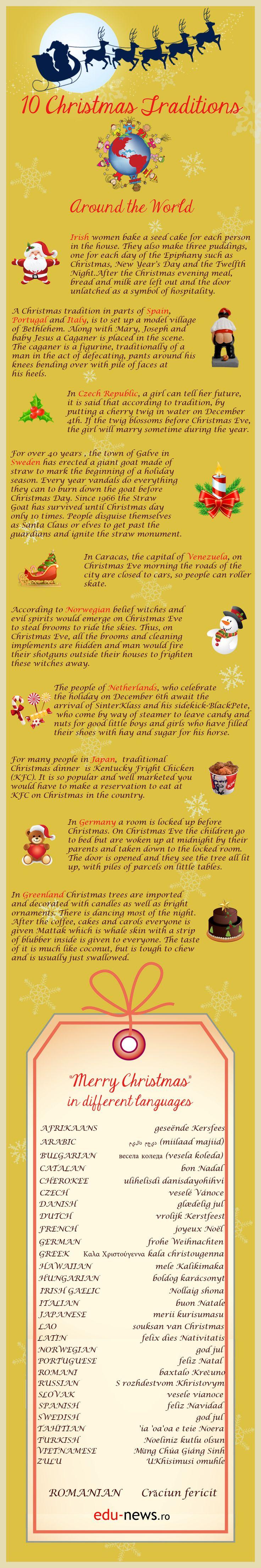 E Ajunul Crăciunului și fiecare popor creștin se pregătește pentru întâmpinarea marii sărbători a Nașterii Domnului.