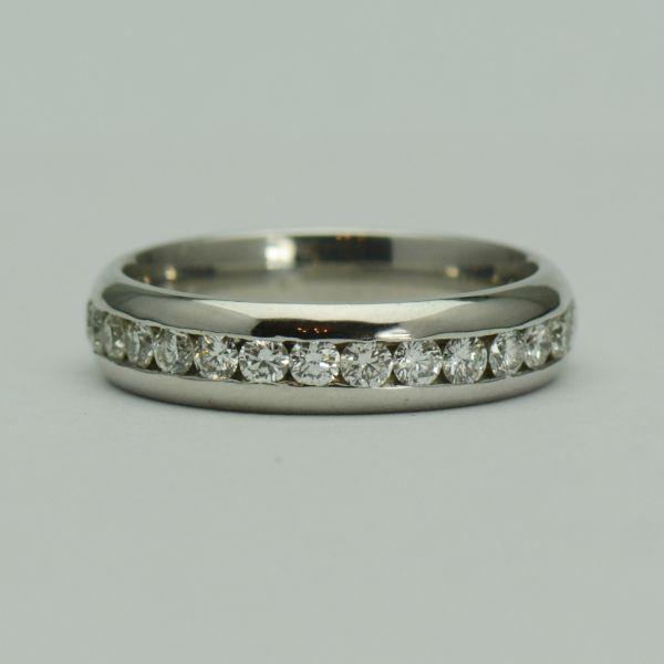 Inel 18k aur alb cu diamante