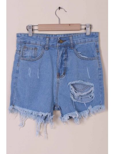 SHARE & Get it FREE | Solid Color Broken Hole High-Waist Denim ShortsFor Fashion Lovers only:80,000+ Items • New Arrivals Daily Join Zaful: Get YOUR $50 NOW!