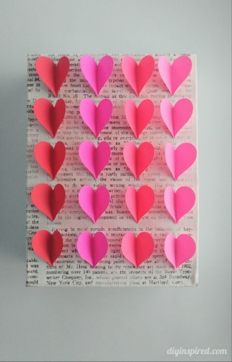 Diy Heart Wall Art Valentine S Day Crafts For Adults Paper