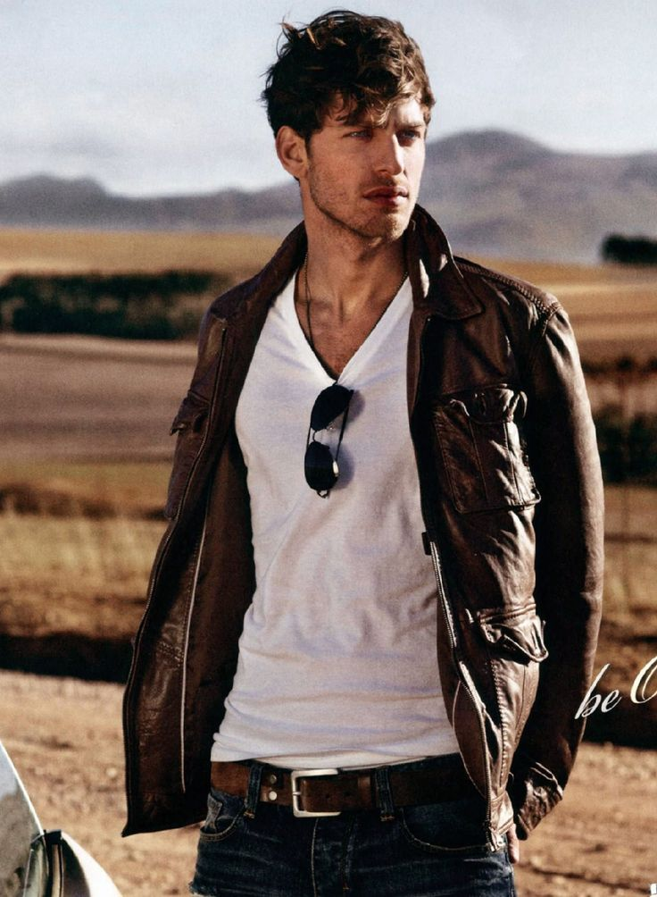leather jacket, white tee, jeans, aviators. | basics done right isn't boring.