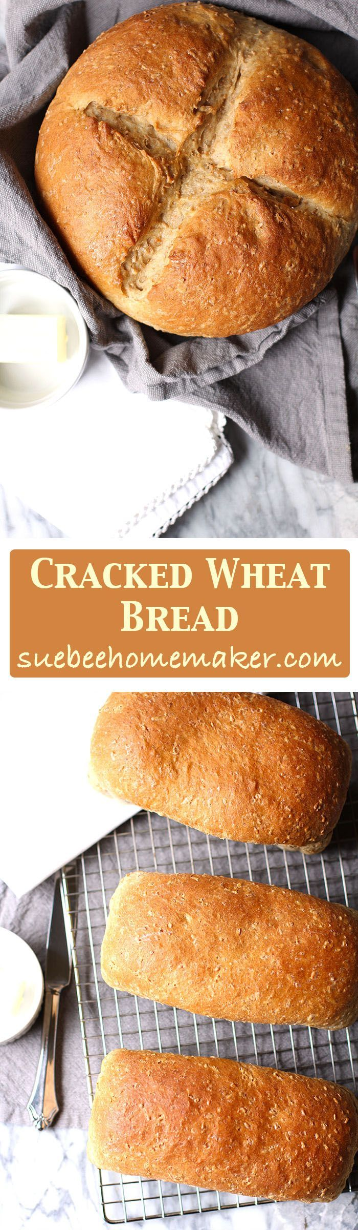 Cracked Wheat Bread is my momma's special recipe and is THE best! It's full of oats, cracked wheat, whole wheat, and honey -and is best toasted with butter!
