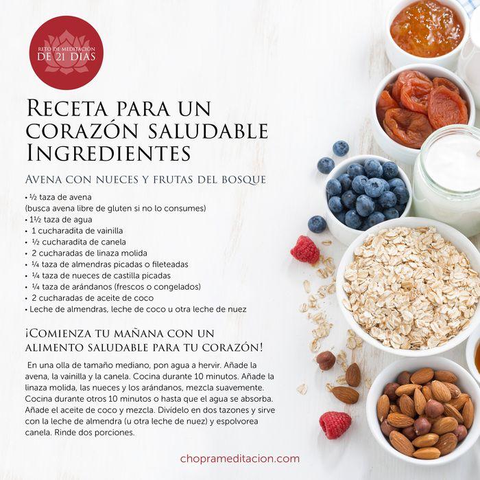 ¡Comienza tu mañana con un alimento saludable para tu corazón! #choprameditacion